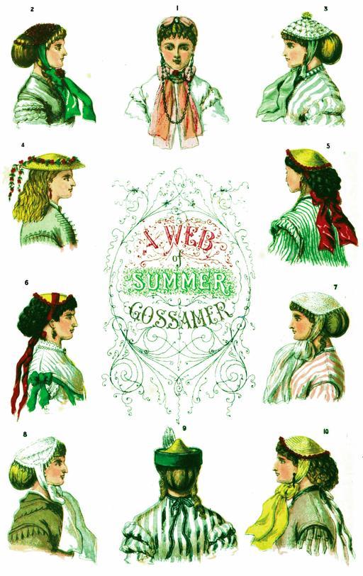 Chapeaux féminins parisiens en 1866