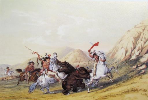 Chasse au grizzli en 1844