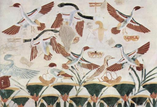 Chasse aux oiseaux dans l'ancienne Égypte