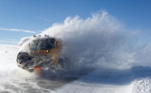 Chasse-neige en action