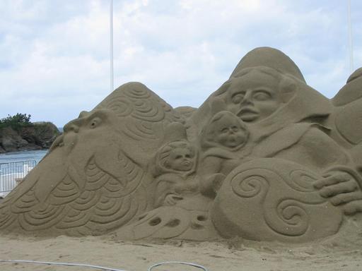 Château de sable au triskèle