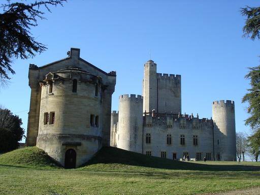Château et chapelle de Roquetaillade en Gironde