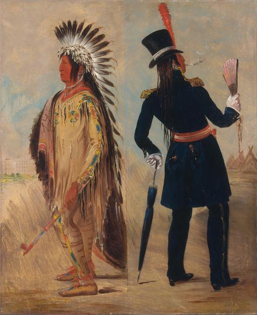 Chef indien avant et après Washington en 1837