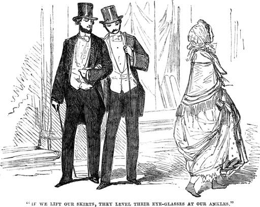 Chevilles de femme en 1854