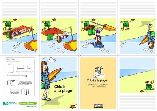 Chloé à la plage