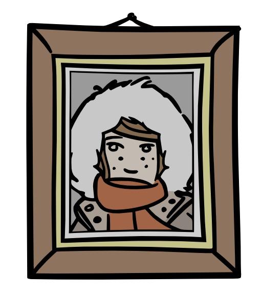 Chloé dans un cadre photographique