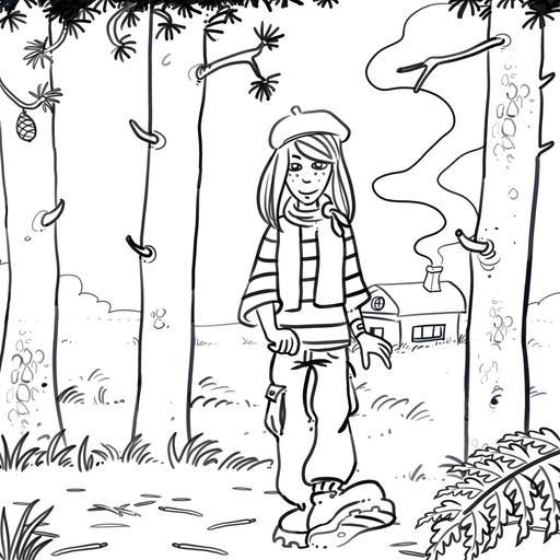 Dessin de Chloé en forêt