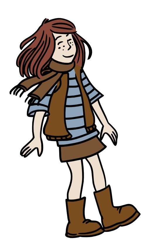 Chloé habillée pour l'automne