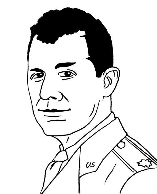 Portrait de l'aviateur Chuck Yeager en 1940