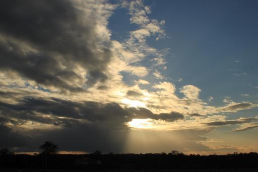Ciel nuageux sur le vignoble nantais en décembre