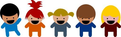 Cinq enfants de dessins animés