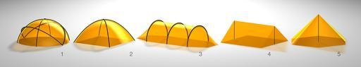 Cinq formes de tentes
