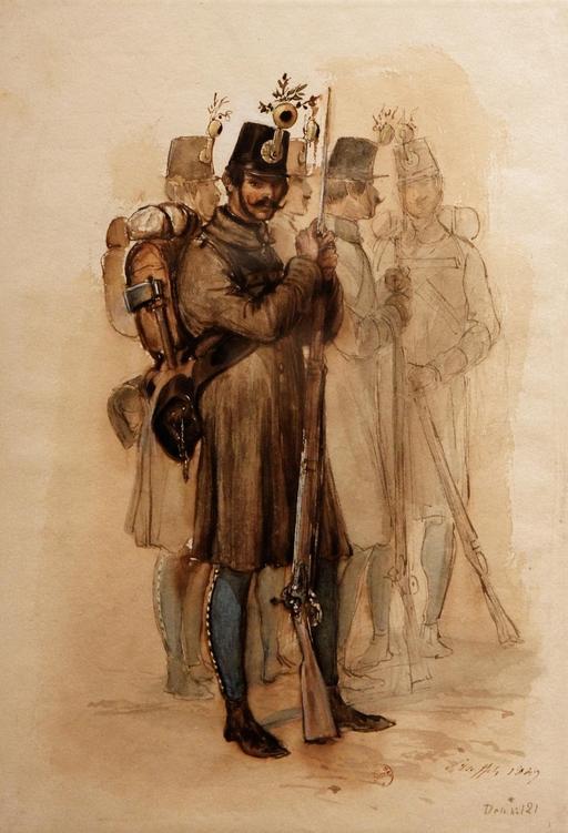 Cinq soldats hongrois