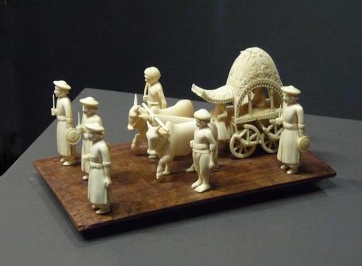 Cipayes et char de procession indiens