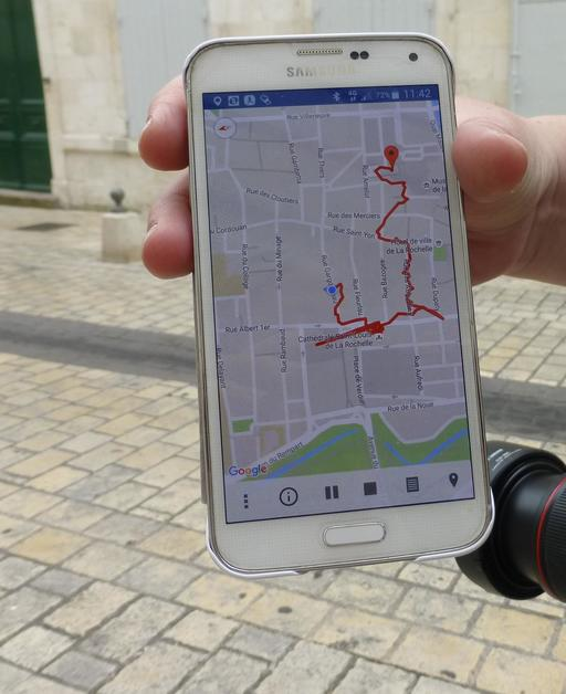 Circuit pédestre sur GPS à La Rochelle