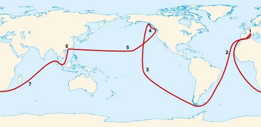 Circumnavigation d'Étienne Marchand en 1790