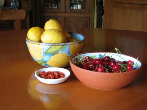 Citrons et cerises