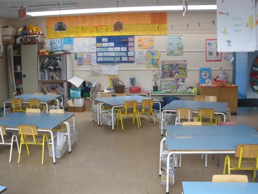 Classe d'école primaire à Dublin