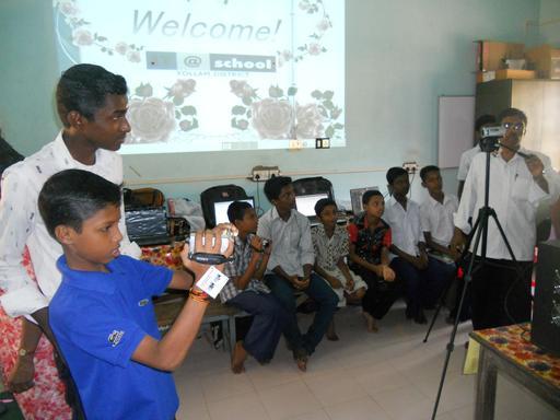 Classe de vidéo informatique en Inde