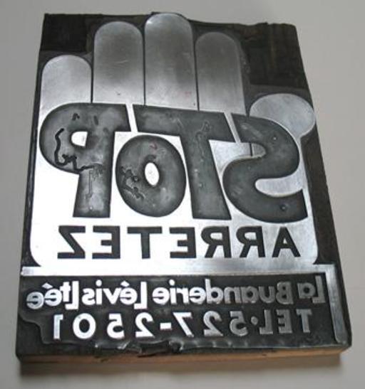 Cliché typographique en magnésium au Québec