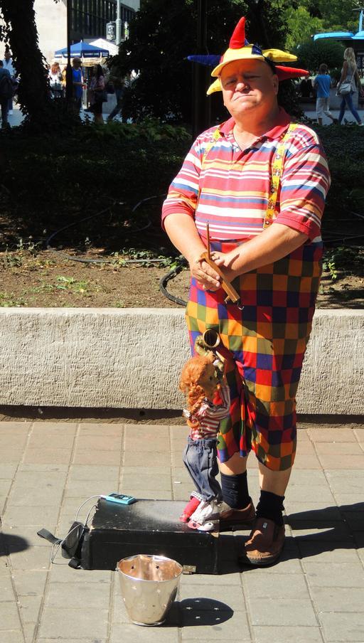 Clown et marionnette