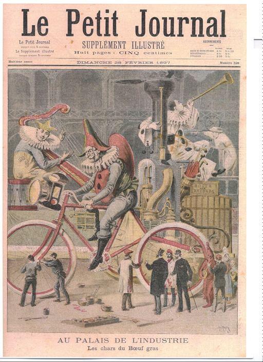 Clown géant à bicyclette du Carnaval de Paris