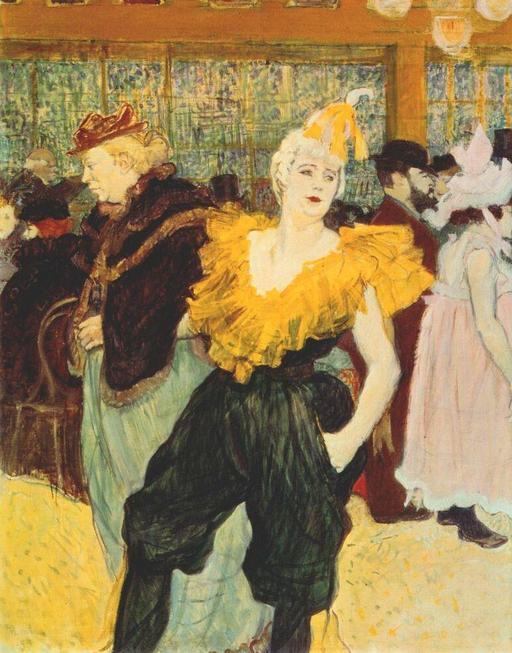 Clownesse cha-u-kao au Moulin Rouge