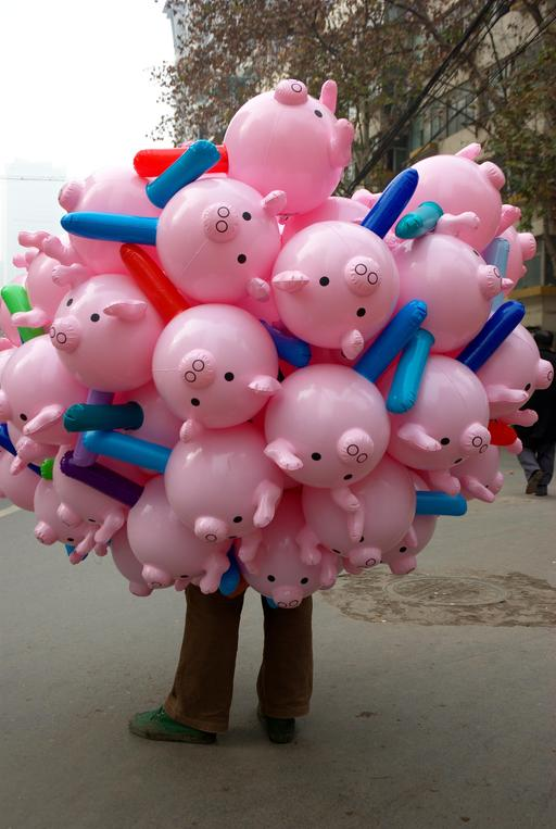 Cochons en ballons