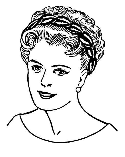 Coiffure féminine avec bandeau