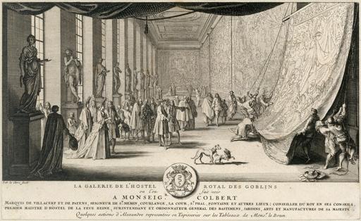 Colbert visitant les Gobelins en 1665