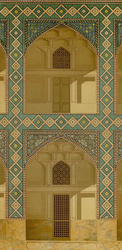 Collège de la mère de Shah Sultan Hussein en 1840