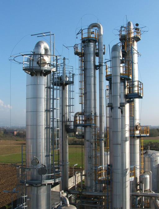 Colonnes de distillation industrielle