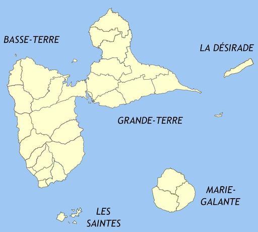 Communes du département de la Guadeloupe