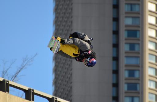 Compétition de snowboard à Québec en 2011