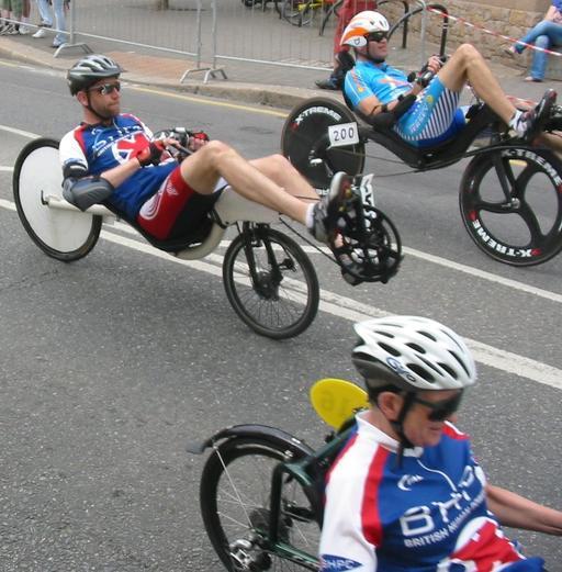 Compétition de vélos couchés