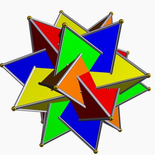 Composé polyédrique de cinq tétraèdres