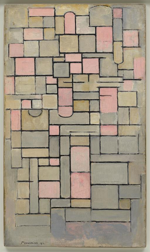 Composition de Mondrian en 1914