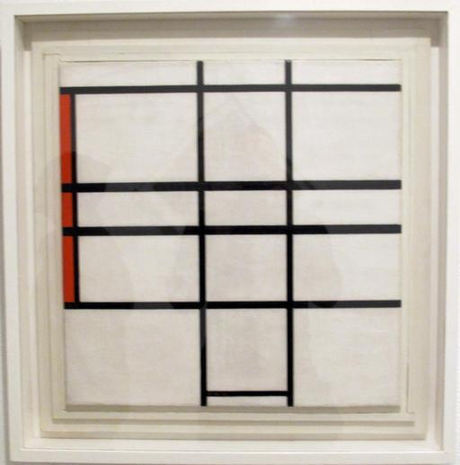 Composition en blanc et rouge de Mondrian