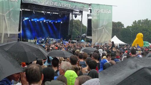 Concert sous la pluie à Montréal en 2012