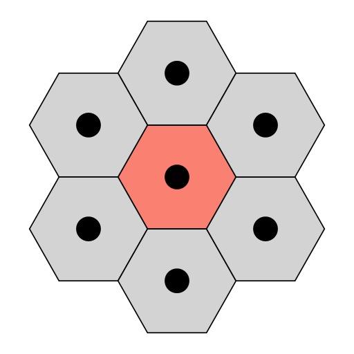 Connectivité hexagonale