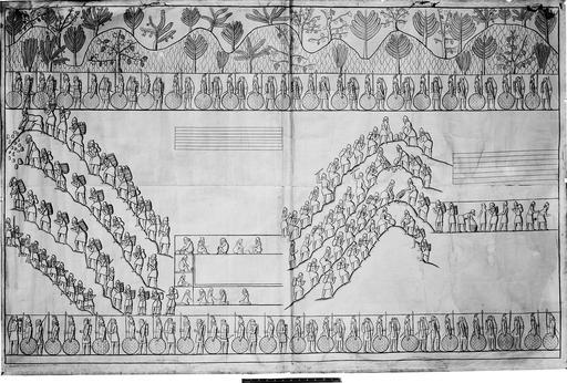 Construction d'un palais assyrien