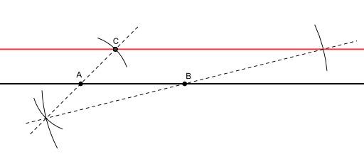 Construction d'une parallèle