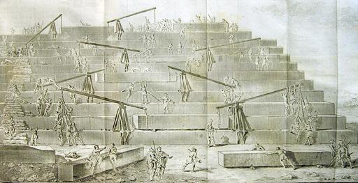 Construction d'une pyramide, d'après Hérodote
