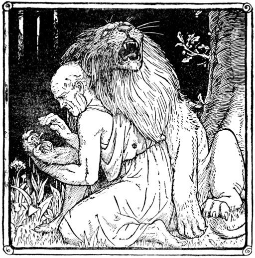 Conte du lion blessé