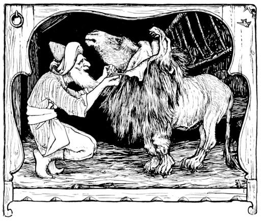 Conte indien de l'âne dans la peau de lion