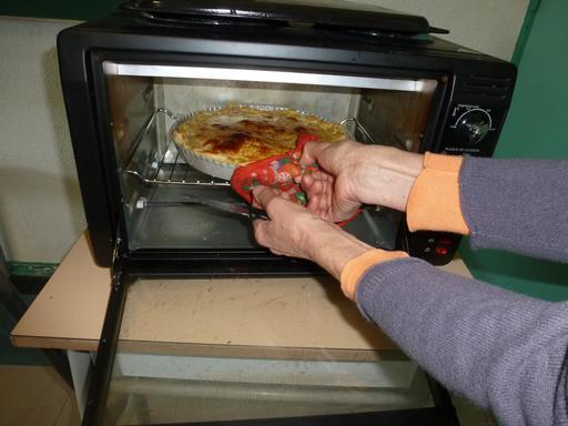 Contrôle de la cuisson d'une frangipane