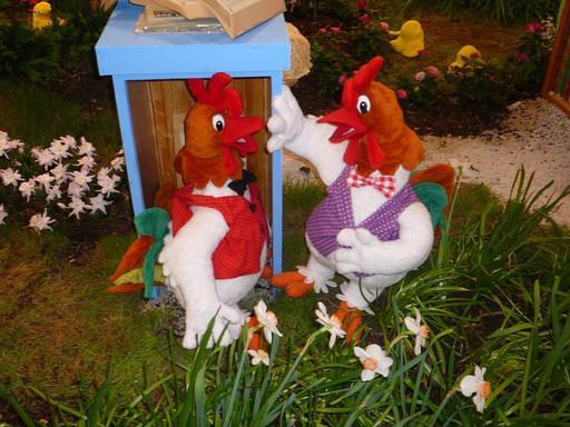 Coq et poule de Pâques