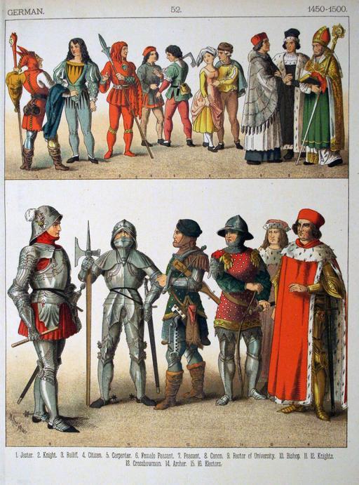 Costumes allemands de la fin du quinzième siècle