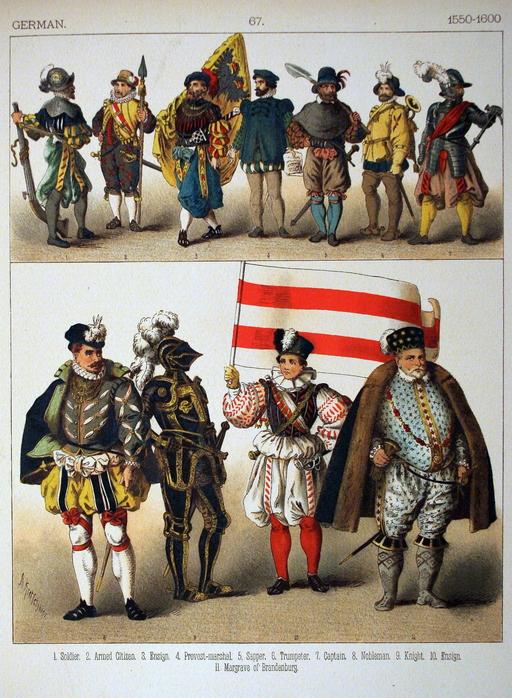 Costumes allemands de la fin du seizième siècle