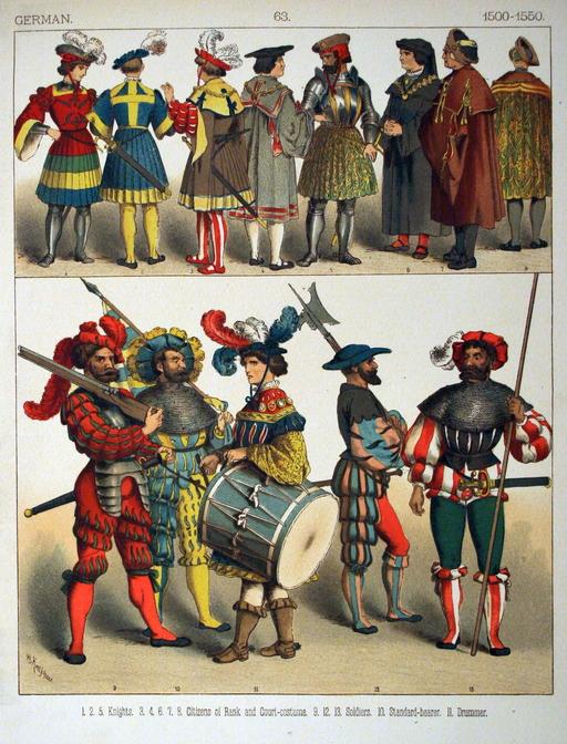 Costumes allemands du début du seizième siècle